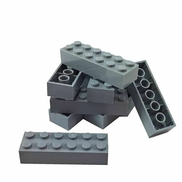 9 NEW LEGO Brick 1 x 10 BRICKS Dark Bluish Gray