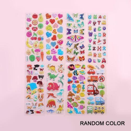 3D Cartoon Kids Bubble Stickers Classic Toys Sticker G7K7 Reward School NEW