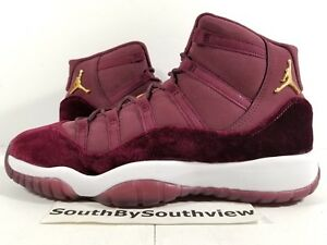 69b2bd763ad2f5 Air Jordan 11 Red Velvet w  Receipt XI Retro Burgundy Maroon Heiress ...