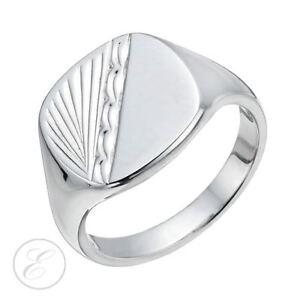 uomo argento modellato sigillo con in da Anello qH8BwX