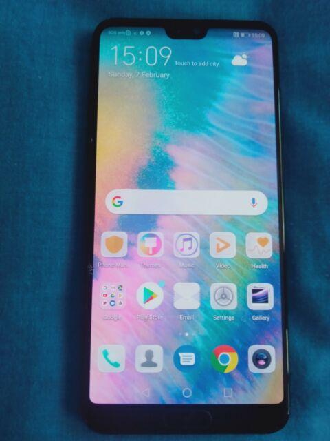 Huawei P20 Pro CLT-L29 - Black, 128GB, 6GB, Dual SIM (Unlocked) - cracked screen
