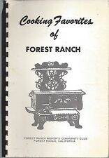 COOKING FAVORITES OF FOREST RANCH CA ANTIQUE COMMUNITY CLUB COOK BOOK LOCAL ADS