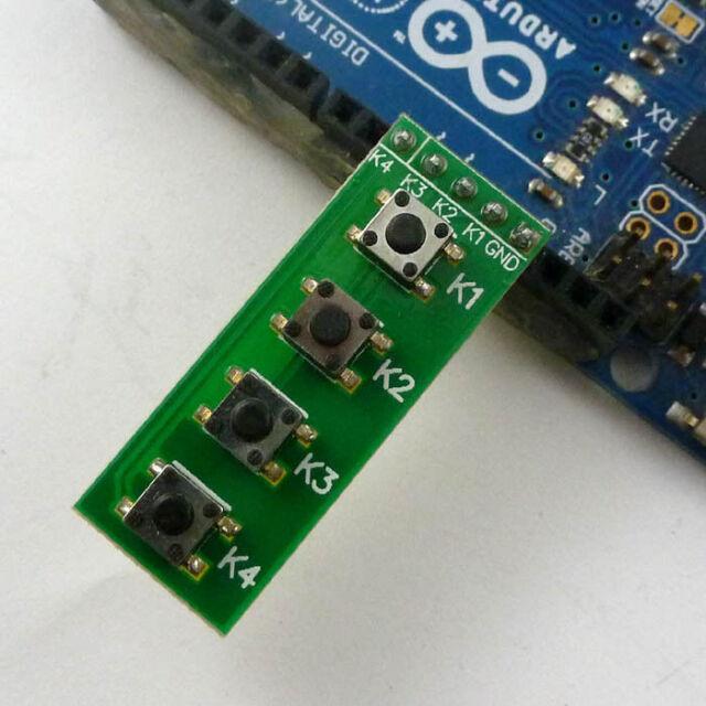 Arduino keypad 4 Button Key Module Switch Keyboard for UNO MEGA2560 Breadboard