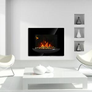 Homcom Cheminee Electrique Murale Led 7 Effets De Flammes Avec