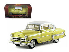 1954 CHEVROLET BEL AIR YELLOW 1:32 DIECAST CAR MODEL BY ARKO PRODUCTS 35411