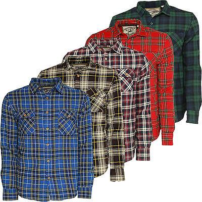 Mens Check Shirt Soulstar Flannel Tartan Slim Fit Cotton Collared Vintage Top