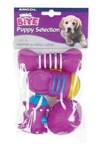 Dog-Toy-Ancol-Small-BitePack-of-4-SQUEAKY-TOYS-Designed-For-a-Puppy-Small-Dogs