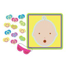 PIN THE DUMMY PACIFIER ON THE BABY SHOWER PARTY GAME!