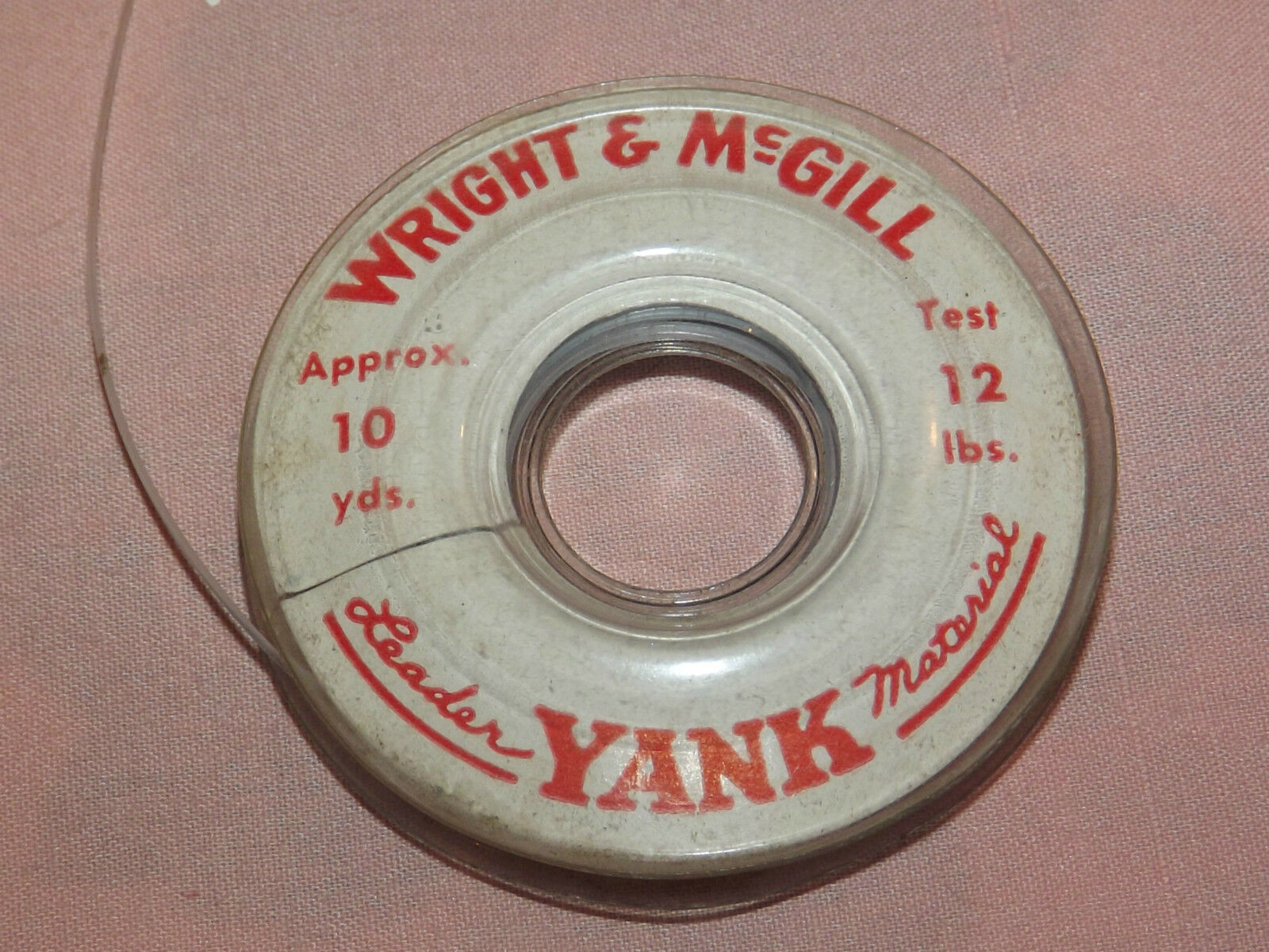 VINTAGE  1930S FISHING WRIGHT & MCGILL LEADER YANK  8 YD 20 LBS TEST STRING LINE
