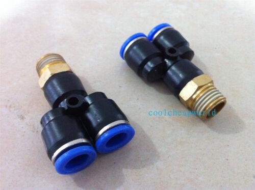 """8 /""""con rosca macho y neumática ensambladora Conector 10 Piezas 10mm-3"""
