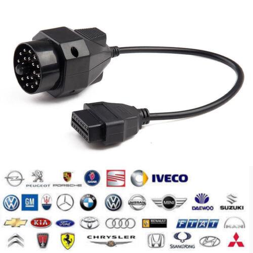 For BMW E36 E46 E38 E39 20 Pin to 16 Pin OBD2 Adapter Connector Scanner Cable
