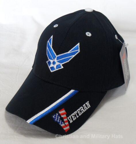 USAF US AIR FORCE  VETERAN Hap /& Stripe Officially Licensed Baseball Cap Hat