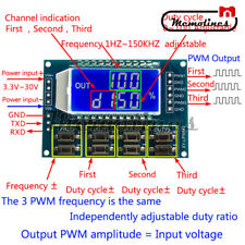 Signal Generator 3 Channel Pwm Pulse Wave Frequency Duty Cycle Adjustable Module