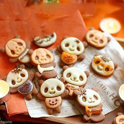 DIY Kitchent Panda Fondant Cake Cookie Cutter Bread Mold Mould Maker Baking Case