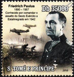 AgréAble Armée Allemande Maréchal Friedrich Paulus (bataille De Stalingrad) La Seconde Guerre Mondiale Timbre-afficher Le Titre D'origine