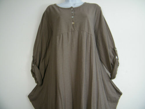 100/% COTTON LAGEN LOOK DRESS WITH 2 SIDE POCKETS 8 COLS ONE SIZE FITS  12-16
