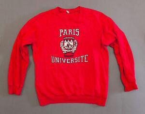 06a509a69 Image is loading RARE-Vintage-University-of-Sorbonne-Sweatshirt-Universite -De-
