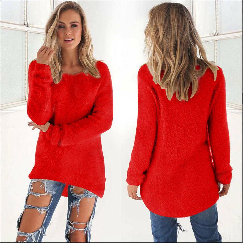 Vestito Abito Donna Maglione Lungo Pullover Felpa Cardigan Vestiti Top S-XXXL 11