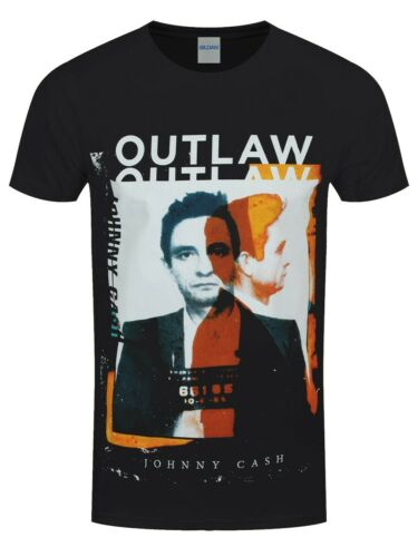 Johnny Cash T-shirt Outlaw Men/'s Black