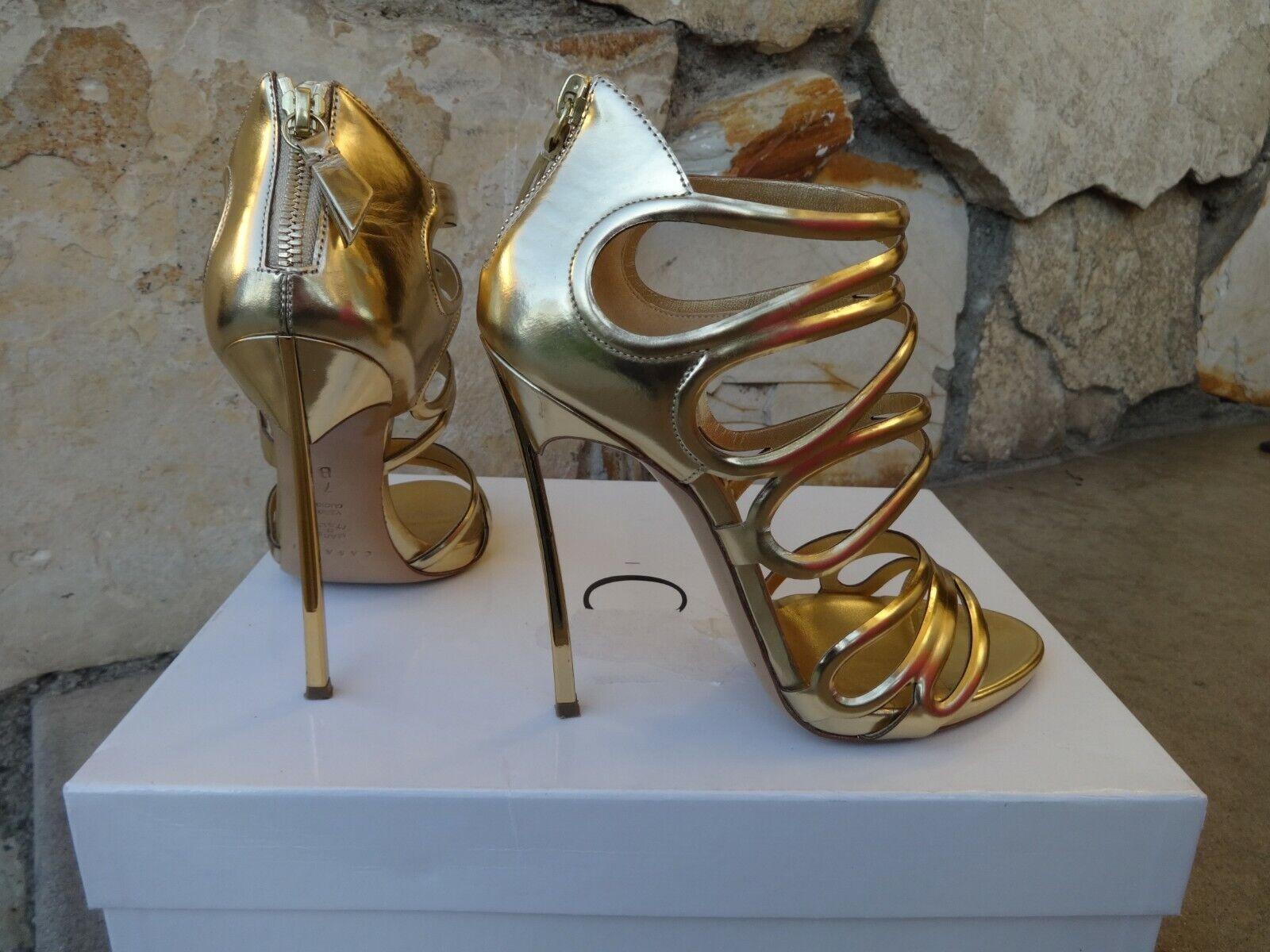 Casadei Blade Cage Strapped oro Sandali UE  Dimensione 7  negozio online outlet