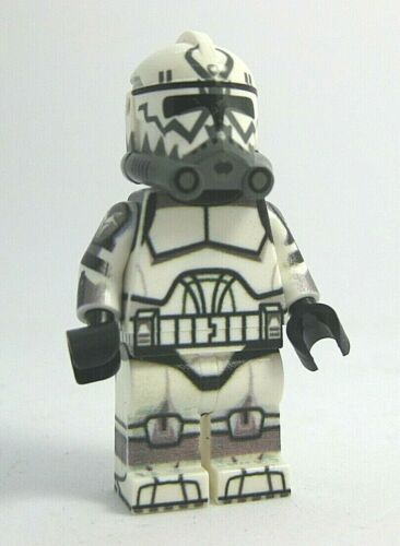 Custom Lego COMET Wolfpack Clone Trooper Minifigure-360° Printed Body NEW