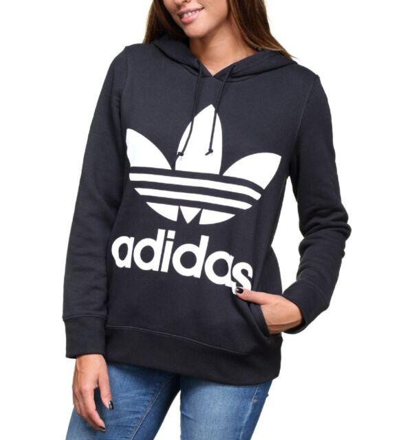 adidas Women's Original Trefoil Hoodie Black Ce2408 Size M