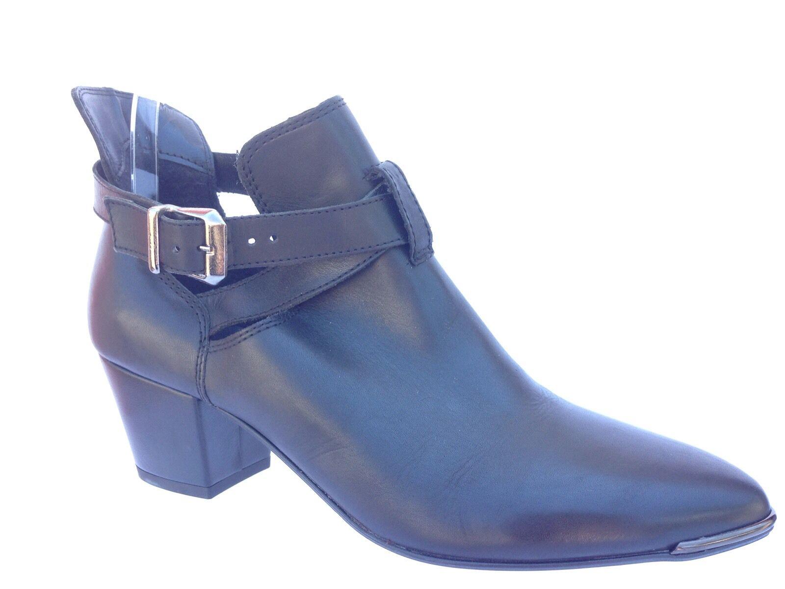 Damenschuhe Kurt Geiger Carvela schwarz Leder ankle boots/ schuhe sz. 40