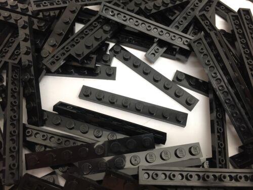 Black 1x8 Plate Brick 10 Pieces Per Order LEGO 3460