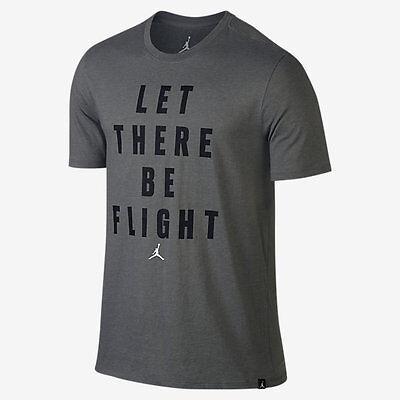 "NEW 862433 010 MEN/'S JORDAN SPORTSWEAR /""LET THERE BE FLIGHT SHIRT BLACK Size M"