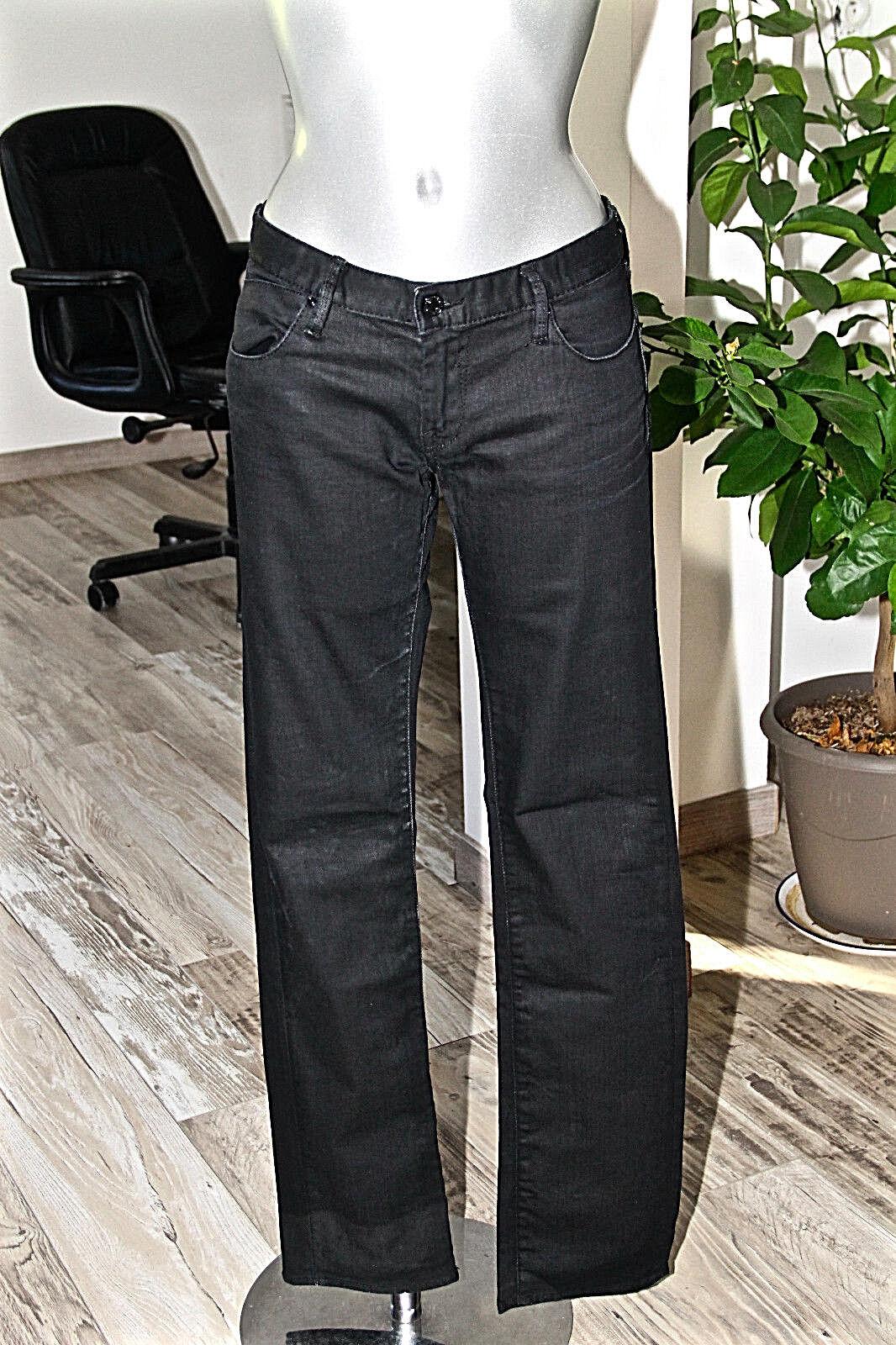 Jeans nero cerati oleato donna donna donna LE TEMPS DES CERISES 210 el clarke Taglia W29 8148bd