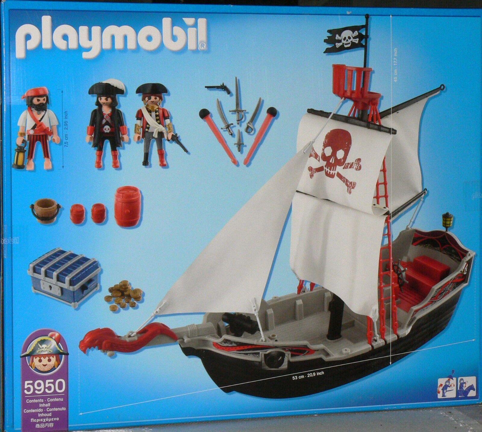 Playmobil Skull and Bones Ship  Pirate Ship Toy Set Brand New Unopened Box