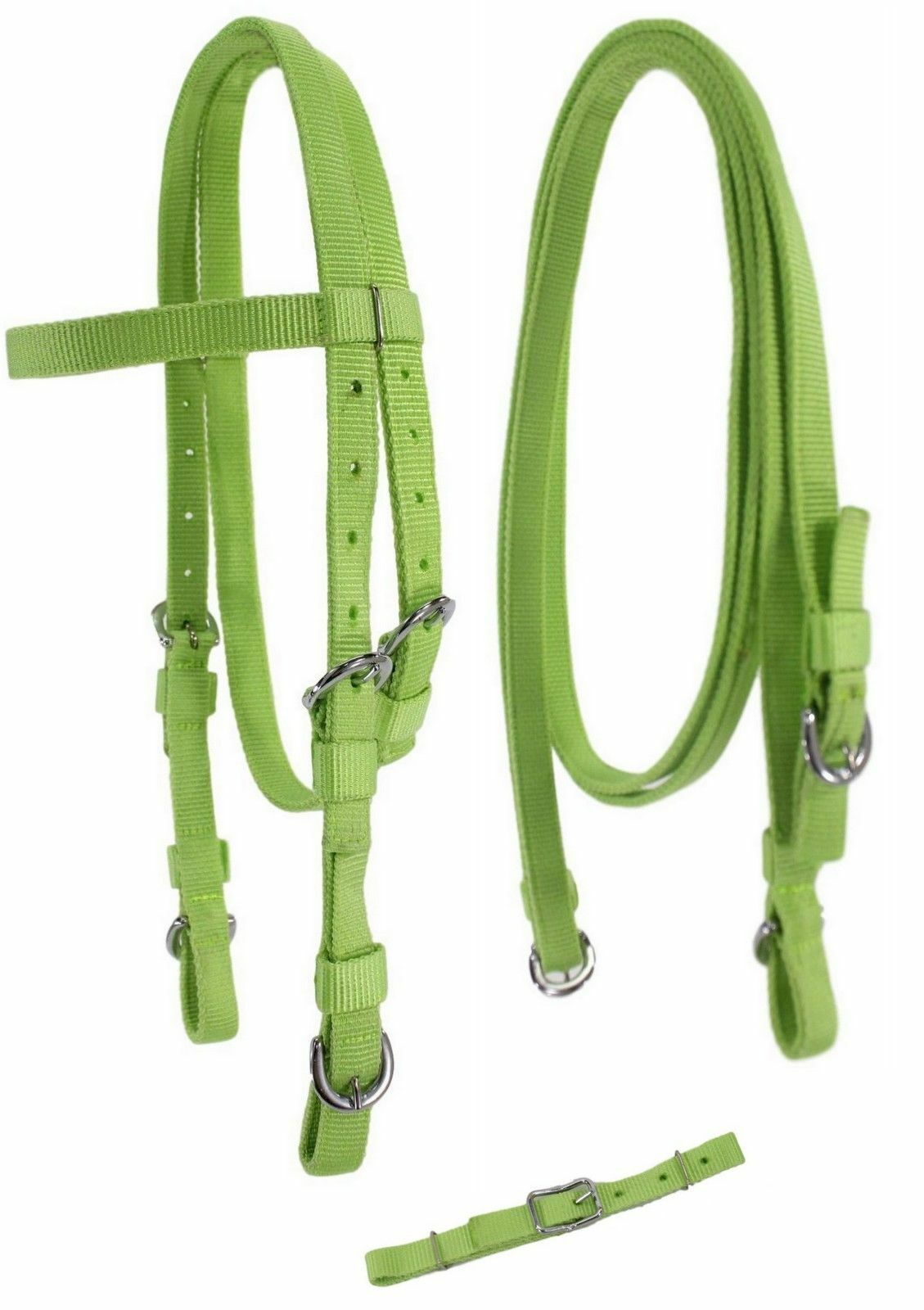 D.A Mini Pony Blue Brand Poly Western Bridle w//Center Buckled Reins Horse Tack