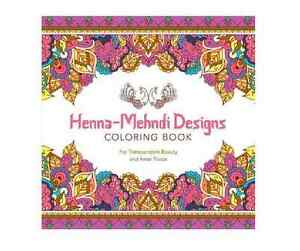 Image Is Loading Adult Coloring Book HENNA MEHNDI DESIGNS Color Drawing