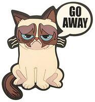 Grumpy Cat go Away Pvc Embossed Refrigerator Magnet