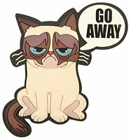 Grumpy Cat go Away Pvc Embossed Refrigerator Magnet