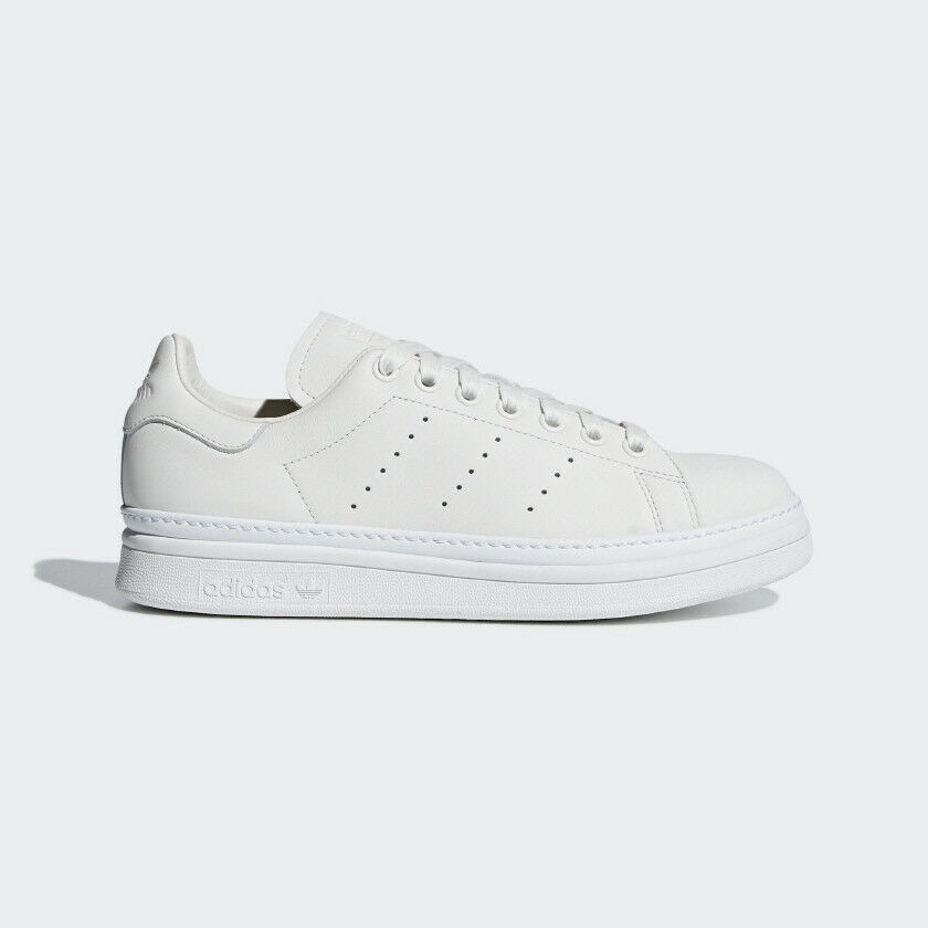 New Adidas Original Womens STANS SMITH BOLD WHITE   WHITE AQ1087 US W 5-11 TAKSE