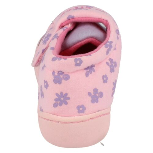 Girls Hello Kitty lilac and pink hook /& loop fastening slippers