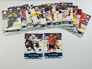 2017-18-Upper-Deck-Overtime-Base-and-Blue-Lot-of-18-Hockey-Cards