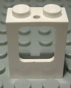 Lego-Eisenbahn-Waggon-Fenster-1x2x2-Weiss-mit-Transparenter-Scheibe-1104