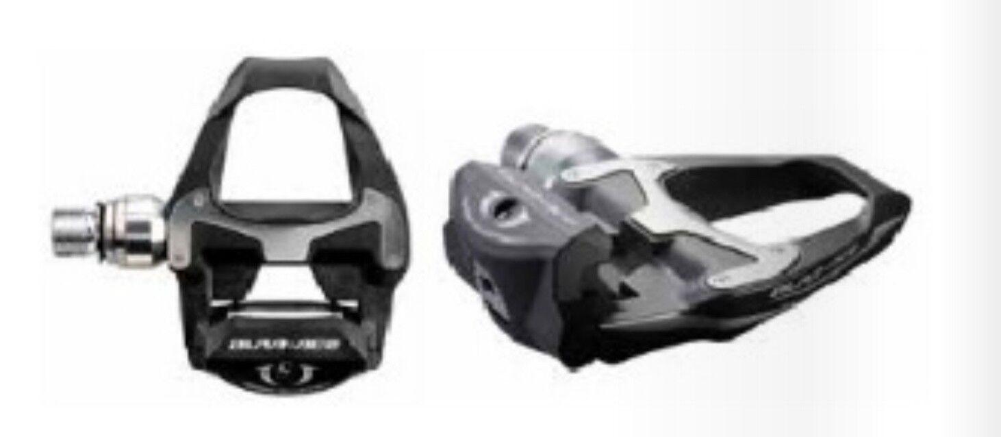 COPPIA PEDALI BICICLETTA SHIMANO DURA ACE PD 9000 road bike pedals gara