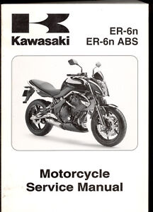 2009 kawasaki er 6n abs motorcycle service manual ebay rh ebay co uk manual kawasaki er6n 2013 portugues manual de taller kawasaki er6n 2013