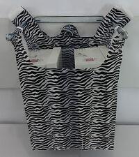 Zebra Print Design Plastic T Shirt Shopping Bags Handles 115x 6x21 Bags Only