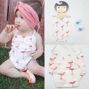 cbbcd9481e Image is loading Newborn-Infant-Kids-Baby-Girl-Animal-Romper-Jumpsuit-