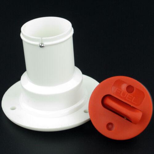 Marine Plastic Deck Fills Red Boat Thu-Hull Deck Fuel Filler 1-1//2 inch Hose