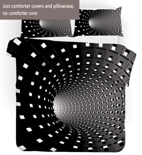 3D Geometric Tunnel Bedding Set Duvet Cover Comforter Cover PillowCase
