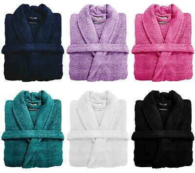 100% Cotton Bath Robe Night Ware Towelling Dressing Gown Bathrobe With Belt