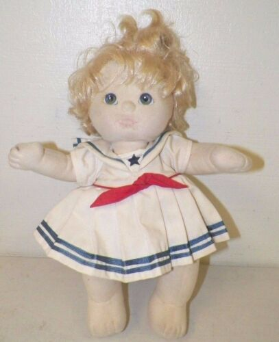 VINTAGE MY CHILD DOLL GIRL BLONDE HAIR BLUE EYES ORIGINAL CLOTHES OUTFIT 15""