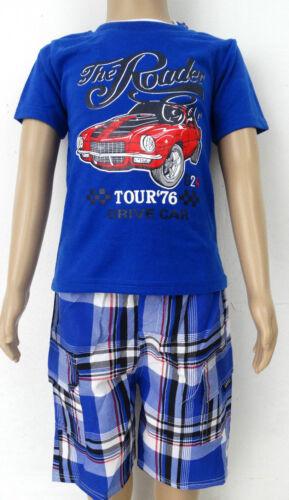 Bambini Estate 2 divisori NUOVO giovani BERMUDA Top 2tlg bambini Caprihose T-shirt