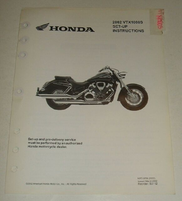 2002 Honda Vtx1800s Vtx 1800 Wiring Diagram  U0026 Parts Guide