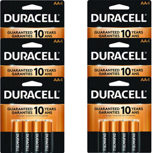 24 Count Duracell AA Coppertop Alkaline Batteries ( 6 x 4 pks)